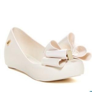 Mel By Melissa Ultragirl Sweet Bow Flats - White